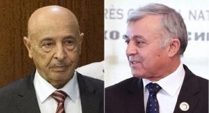 Libya's rival Parliament Leaders- Agila Salah and Nouri Abusahmen