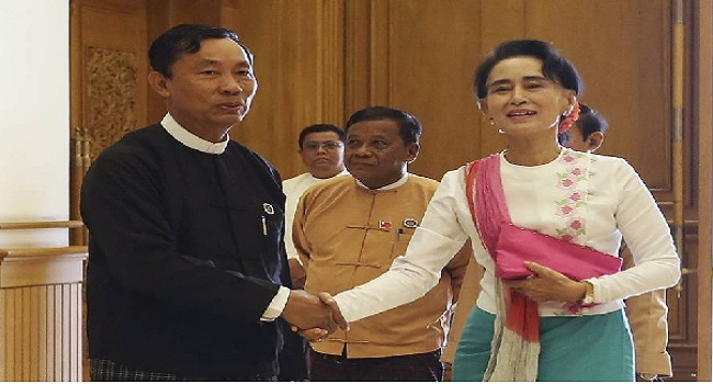 Myanmar's Suu Kyi In Transition Talks With  Sein
