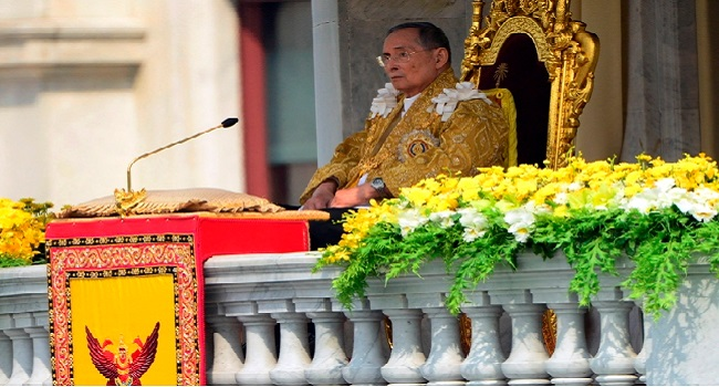 Thailand's King Makes Rare Appearance