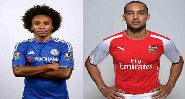 Walcott, Willian Expect Tough Arsenal vs. Chelsea Clash