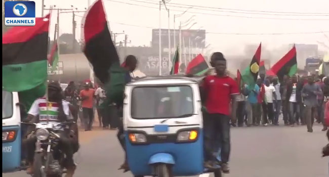 Pro-Biafra Group Protests Again In Asaba