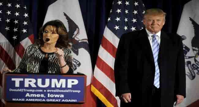 Palin Backs Trump In Presidential Bid