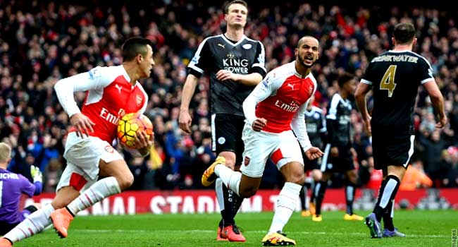 EPL: Arsenal Beat Leicester City 2-1 At Emirates