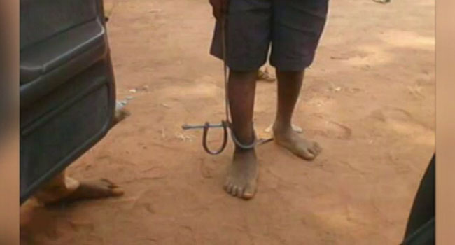 Child Abuse: Forced To School In Chains