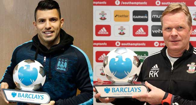 Aguero and Koeman Named EPL's Best For January
