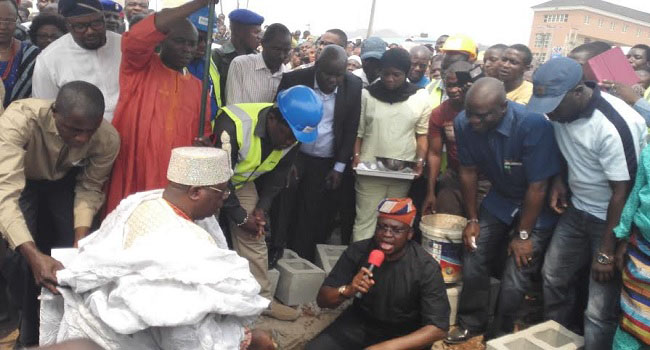 Fayose Lays Foundation For New Oba Market