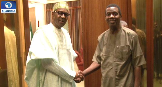President Buhari Felicitates With Pastor Adeboye At 74