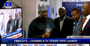 Executive Chairman/ CEO Channels Media Group, Mr. John Momoh giving a brief speech during the unveil