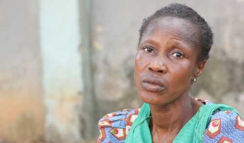 Homeless Hypertensive Lady In Alausa, Ikeja