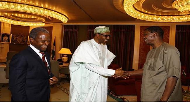 President Buhari Meets With Pastor Adeboye