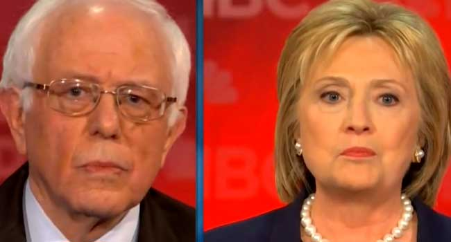 US Election: Clinton And Sanders Debate In New Hampshire