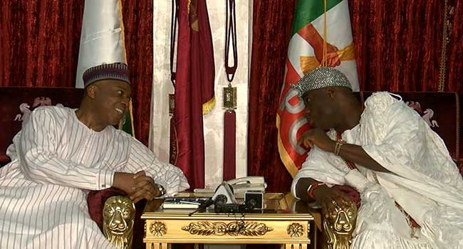 Ooni Makes Case For Nigerian Youths At Meeting With Senate President