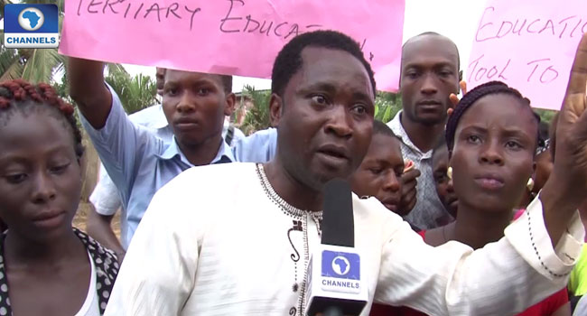 Students Protest Closure Of JAMB Portal 'Before Due Date'
