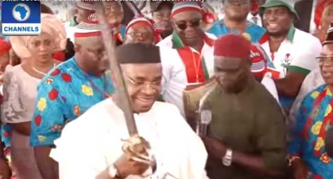 Governor Udom Emmanuel Celebrates Election Victory