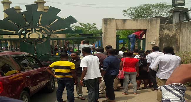 Yabatech Students Protest Death Of Colleague