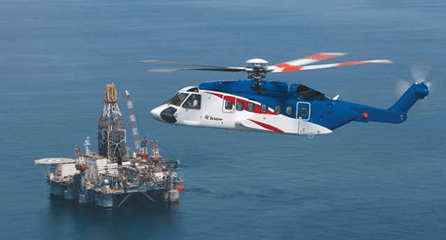 """Bristow Helicopter Makes """"Controlled Landing"""""""