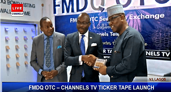 FMDQ OTC Partners With Channels Television To Launch FMDQ Price Ticker Tape