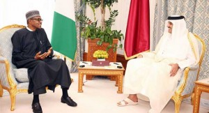 muhammadu-buhari-and-Sheikh-Tamim-Bin-Hammad-Al-Thani on Oil Prices