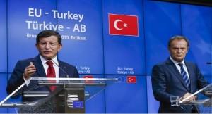 Migrant- Ahmet Davutoglu and Donald Tusk