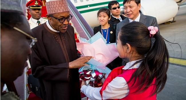 President Buhari Arrives In China