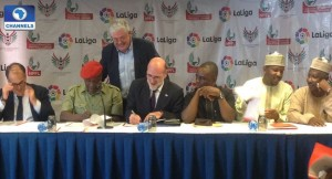 NPFL-La-Liga-sign-5-Year-Partnership