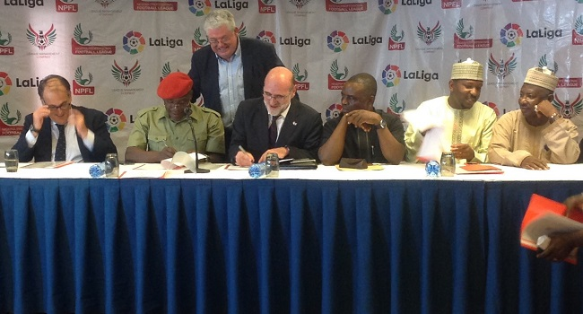 NPFL, LaLiga Sign Five-Year Partnership