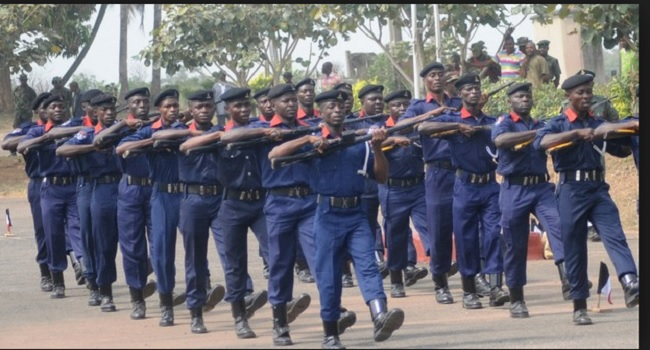 NSCDC Intercepts Vehicles Carrying Suspected Adulterated Blue Gas In Abia