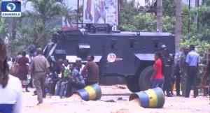 Police, Public protest, procession, UNILAG Dean, protest, students rustication