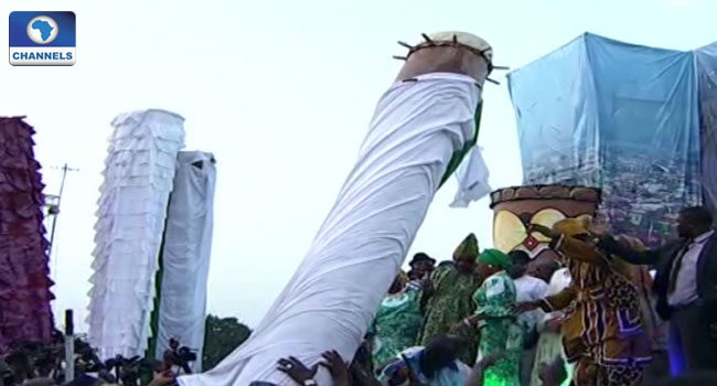 World Tallest Drums Unveiled In Drum Festival In Ogun