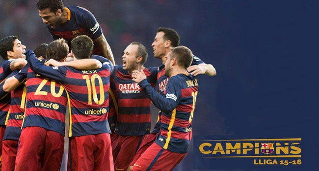 Barcelona Win Second Straight Spanish League Title