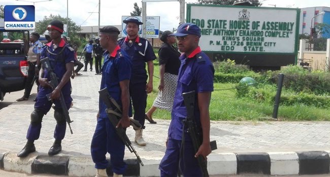 Heavy Presence Of Security Operatives At Edo House Of Assembly