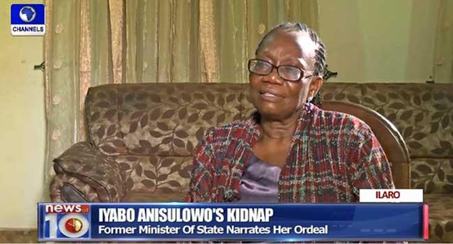 Ex-Minister, Iyabo Anisulowo Narrates 'Excruciating' Kidnap Experience