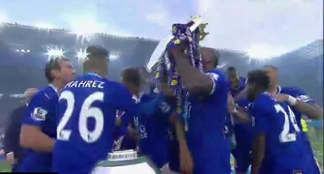 Leicester City Lift Premier League Trophy