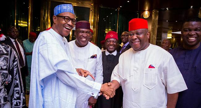 Buhari Meets With Igbo Politicians