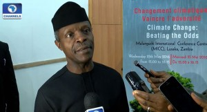 Yemi Osinbajo Nigeria VP on Africa's development and climate change