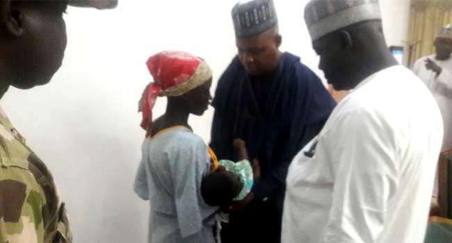 Rescued Chibok Girl Handed Over To Borno Governor Shettima
