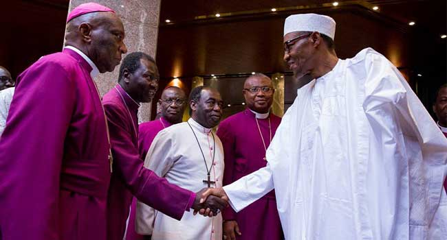 President Buhari Meets With Anglican Bishops