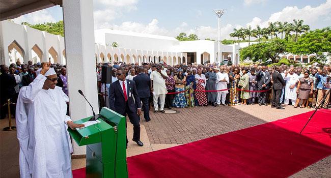 I Will Rehabilitate Nigeria, Buhari Tells Aso Rock Staff
