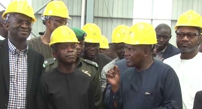 VP Osinbajo Inspects Dangote Refinery In Lagos