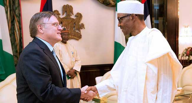 President Buhari recieves outgoing High Commissioner of Canada to Nigeria, Ambassador Perry Calderwood