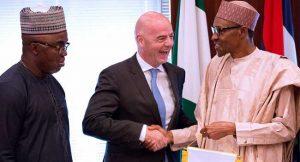 FIFA President, Gianni Infantino, Muhammadu Buhari