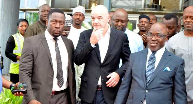 FIFA President, Gianni Infantino Arrives Nigeria