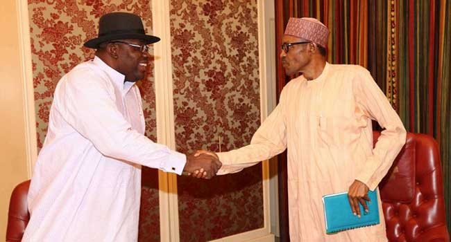 President Buhari Meets With Governor Dickson in Abuja 1