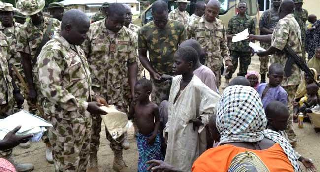 Troops-rescue-children