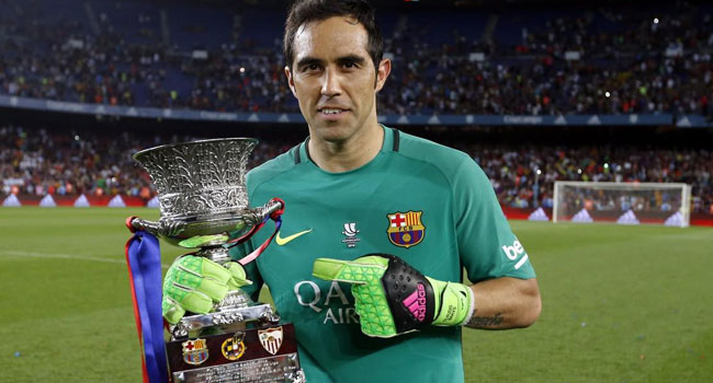 Man City Sign Claudio Bravo From Barcelona