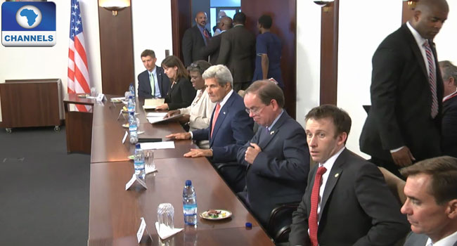 John Kerry at a meeting with Northern Nigeria governors