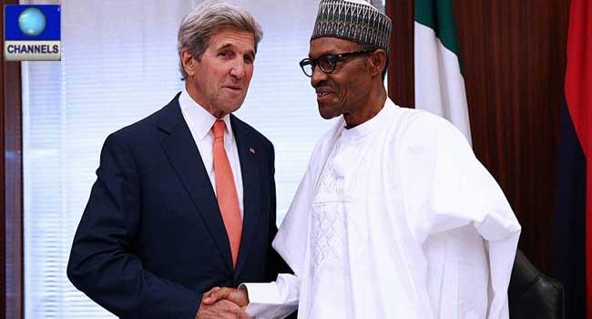 Buhari Tells Kerry Anti-Corruption War Will Be Won