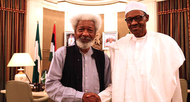 Buhari, Soyinka Discuss National Matters