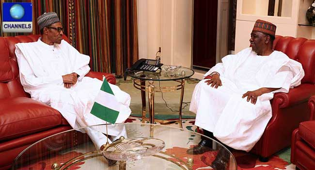 President Buhari Meets With Gowon