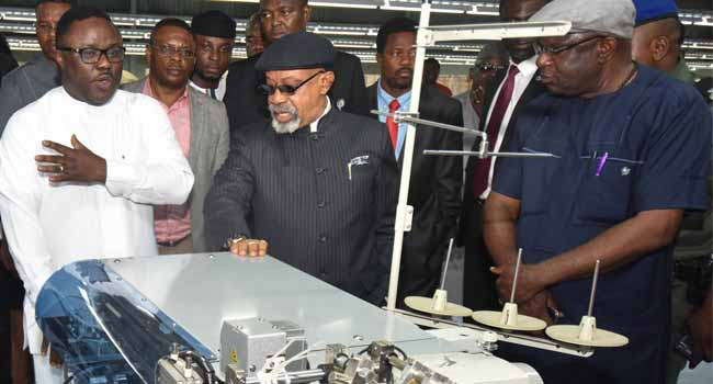 Ngige Visits Calabar Garment Factory, Expresses Satisfaction